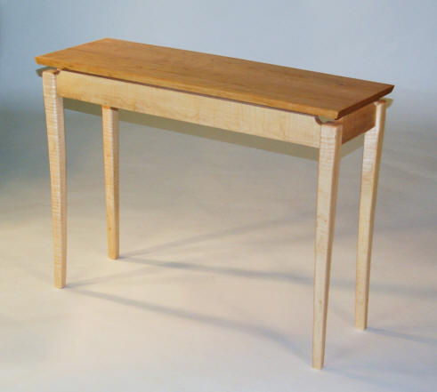 Rick helms woodworking floating top table for Floating bench plans